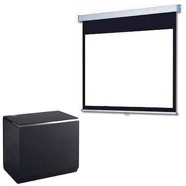 Panasonic TX-100FP1E + LDLC Ecran manuel - Format 16:9 - 240 x 135 cm Vidéoprojecteur DLP Full HD - 2700 Lumens - Focale ultra-courte - Wi-Fi/Bluetooth/DLNA - HDMI/USB - Haut-parleurs 32 Watts + Ecran manuel - Format 16:9 - 240 x 135 cm