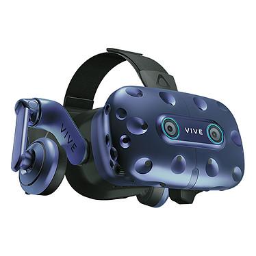HTC Vive Pro Eye + Pack Advantage Entreprise Casque de réalité virtuelle avec suivi oculaire de précision + 2 stations de base SteamVR 2.0 et 2 contrôleurs - Licence d'utilisation commerciale incluse
