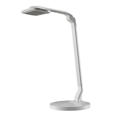 Ineo Design ZZ Blanc Lampe de bureau LED à tête rotative - 960 Lux -  avec port de charge USB - Coloris blanc