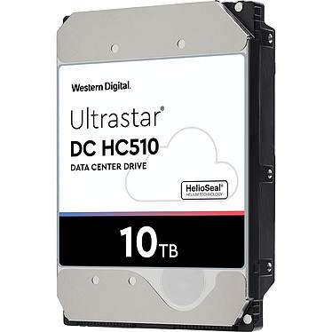 "Western Digital Ultrastar DC HC510 10 To (0F27353) Disque dur serveur 3.5"" 10 To 7200 RPM 256 Mo SAS 12Gb/s 512e TCG (bulk)"