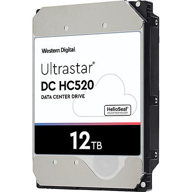"Western Digital Ultrastar DC HC520 12 To (0F29531) Disque dur serveur 3.5"" 12 To 7200 RPM 256 Mo SAS 12Gb/s 512e TCG (bulk)"
