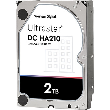 "Western Digital Ultrastar DC HA210 2 To (1W10002) Disque dur serveur 3.5"" 2 To 7200 RPM 128 Mo SATA 6Gb/s 512n (bulk)"