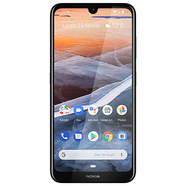 "Nokia 3.2 Dual SIM Gris Smartphone 4G-LTE Dual SIM - Snapdragon 429 8-core 1.8 GHz - RAM 2 Go - Ecran tactile 6.26"" 720 x 1520 - 16 Go - Bluetooth 4.2 - 4000 mAh - Android 9.0"