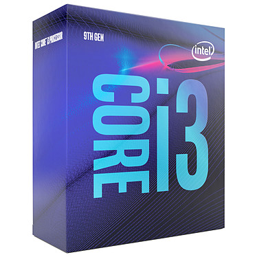 Intel Core i3-9100 (3.6 GHz / 4.2 GHz) Processeur Quad Core Socket 1151 Cache L3 6 Mo Intel UHD Graphics 630 0.014 micron (version boîte - garantie Intel 3 ans)