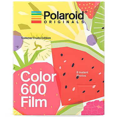 Polaroid Color 600 Film Summer Fruits 8 films instantanés couleur avec cadre fruité pour appareil photo Polaroid 600 et i-Type