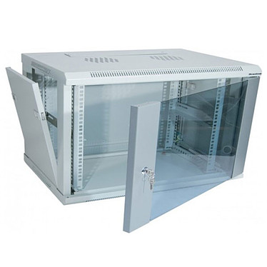 Dexlan coffret réseau - fixe - largeur 19'' - hauteur 12U - profondeur 45 cm - charge utile 60 kg - coloris gris Coffret pour installation réseau - dimensions 600 x 450 x 635 mm - charge utile 60 kg - livré monté