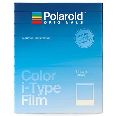 Polaroid Color i-Type Film Summer Blues 8 films instantanés couleur avec cadres bleus dégradés pour appareil photo Polaroid i-Type