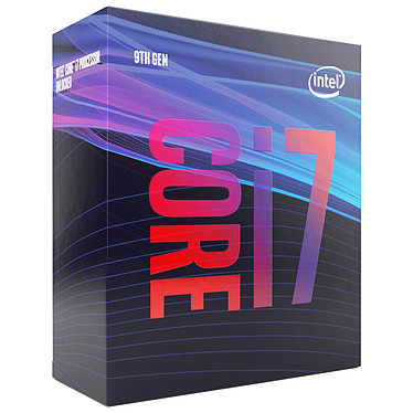 Intel Core i7-9700 (3.0 GHz / 4.7 GHz) Processeur 8-Core 8-Threads Socket 1151 Cache L3 12 Mo Intel UHD Graphics 630 0.014 micron (version boîte - garantie Intel 3 ans)