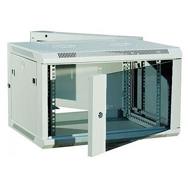 Dexlan coffret réseau - pivotant - largeur 19'' - hauteur 9U - profondeur 55 cm - charge utile 60 kg - coloris gris Coffret pour installation réseau - dimensions 600 x 550 x 500 mm - charge utile 60 kg - livré monté