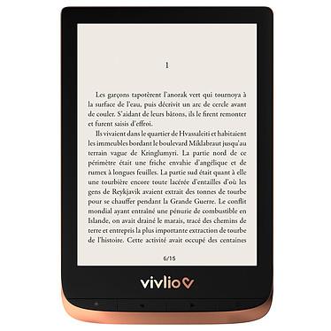 """Vivlio Touch HD Plus Cuivre/Noir + Pack d'eBooks OFFERT Liseuse eBook Wi-Fi - Écran tactile HD 6"""" 1072 x 1448 - 16 Go - Portrait/Paysage - Résistante à l'eau - Pack eBooks offert"""