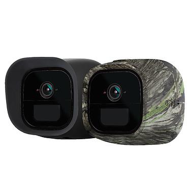 Arlo Go VMA4270 Lot de 2 coques en silicone (camouflage et noire) remplaçables pour caméra Arlo Go