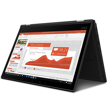 "Lenovo ThinkPad L390 Yoga (20NT000XFR) Intel Core i5-8265U 8 Go SSD 256 Go 13.3"" LED Tactile Full HD Wi-Fi AC/Bluetooth Webcam Windows 10 Professionnel 64 bits"