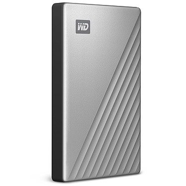"WD My Passport Ultra 2 To Argent (USB 3.0/USB-C) Disque dur externe 2.5"" sur port USB 3.0 / USB-C"