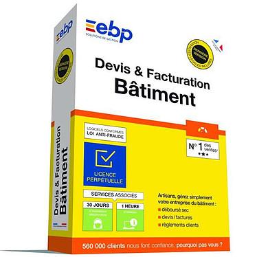 EBP Devis & Facturation Bâtiment OL (Nouvelle Version) Logiciel de Devis et Facturation pour artisans du bâtiment (Français, WINDOWS)