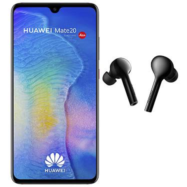 "Huawei Mate 20 Noir + FreeBuds OFFERTS ! Smartphone 4G-LTE Advanced Dual SIM - Kirin 980 Octo-Core 2.6 GHz - RAM 4 Go - Ecran tactile 6.53"" 1080 x 2244 - 128 Go - NFC/Bluetooth 5.0 - 4000 mAh - Android 9.0 + Écouteurs intra-auriculaires sans fil Bluetooth avec micro intégré OFFERTS !"