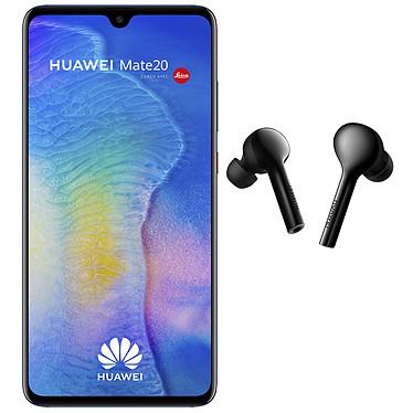 "Huawei Mate 20 Bleu + FreeBuds OFFERTS ! Smartphone 4G-LTE Advanced Dual SIM - Kirin 980 Octo-Core 2.6 GHz - RAM 4 Go - Ecran tactile 6.53"" 1080 x 2244 - 128 Go - NFC/Bluetooth 5.0 - 4000 mAh - Android 9.0 + Écouteurs intra-auriculaires sans fil Bluetooth avec micro intégré OFFERTS !"