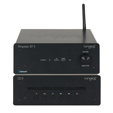 Tangent Ampster BT II + CD II Amplificateur stéréo intégré 2 x 50 W Bluetooth aptX + Lecteur CD avec sorties RCA et optique