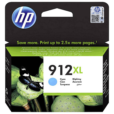 HP 912XL Cian (3YL81AE) Cartucho de tinta cian de alta capacidad - 825 páginas