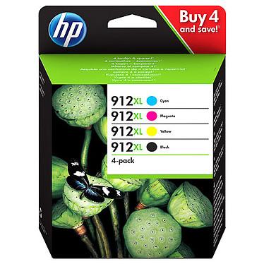HP 912XL Pack (3YP34AE) Pack de 4 cartouches d'encre haute capacité - Cyan/Magenta/Jaune/Noir - 825 pages