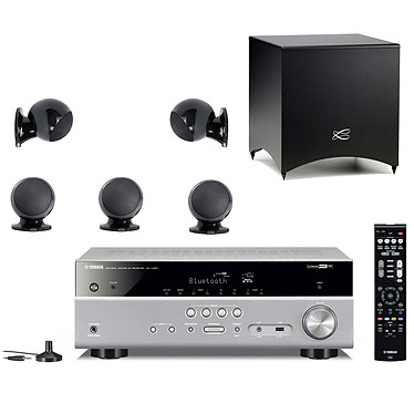 Yamaha RX-V485 Titane + Cabasse Alcyone 2 Pack 5.1 Noir Ampli-tuner Home Cinéma 5.1 3D 80 Watts - Dolby TrueHD / DTS-HD Master Audio - 4 x HDMI 2.0 HDCP 2.2 - HDR 10/Dolby Vision/HLG - Bluetooth/Wi-Fi/AirPlay - MusicCast - YPAO + Pack d'enceintes 5.1