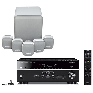 Yamaha RX-V685 Noir + Monitor Audio MASS 5.1 Blanc