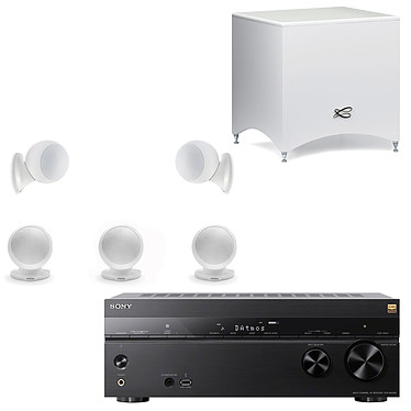 Sony STR-DN1080 + Cabasse Alcyone 2 Pack 5.1 Blanc Ampli-tuner Home Cinema 7.2 3D Ready - Dolby Atmos / DTS:X - Pass-through 4K HDR - Wi-Fi/Bluetooth/DLNA/NFC - Multiroom - AirPlay/ChromeCast + Ensemble 5.1