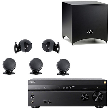 Sony STR-DN1080 + Cabasse Alcyone 2 Pack 5.1 Noir Ampli-tuner Home Cinema 7.2 3D Ready - Dolby Atmos / DTS:X - Pass-through 4K HDR - Wi-Fi/Bluetooth/DLNA/NFC - Multiroom - AirPlay/ChromeCast + Ensemble 5.1