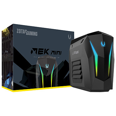 ZOTAC MEK MINI (GM2070C701B) Intel Core i7-8700 (3.2 GHz / 4.6 GHz) 16 Go SSD 240 Go + HDD 2 To NVIDIA GeForce RTX 2070 Wi-Fi AC/Bluetooth 5.0 - Windows 10 Famille 64 bits