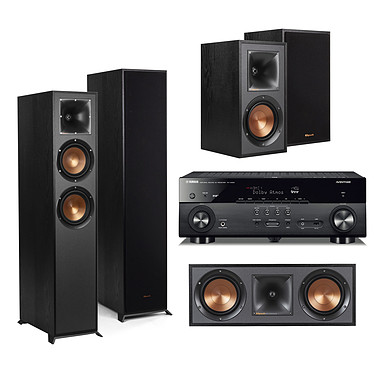 Yamaha MusicCast RX-A680 Noir + Klipsch Pack 620 5.0 Ampli-tuner Home Cinéma 7.2 3D 80W/canal - Dolby Atmos/DTS:X - 4x HDMI HDCP 2.2 Ultra HD 4K - Wi-Fi/Bluetooth/DLNA/AirPlay - MusicCast/MusicCast Surround - A.R.T. Wedge - Calibration YPAO + Ensemble 5.0
