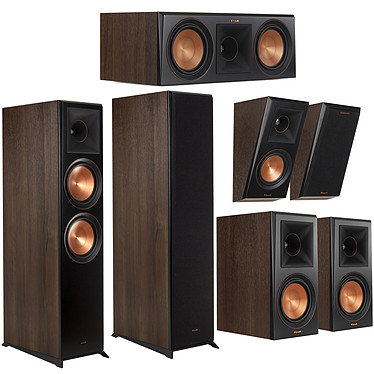 Klipsch Pack Atmos 8000 Noyer Pack d'enceintes 5.0.2 Dolby Atmos