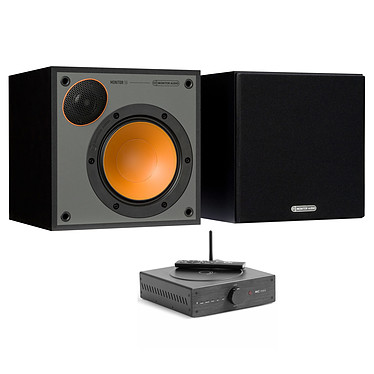 Elipson MC Mini + Monitor Audio Monitor 50 Noir