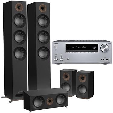 Onkyo TX-NR696 Argent + Jamo S 809 HCS Noir Ampli-tuner Home Cinéma 7.2 - 165 Watts - THX - Dolby Atmos/DTS:X - Virtualisation Surround - HDMI 4K/60p HDR HDCP 2.2 - Wi-Fi AC/Bluetooth 4.2 - Multiroom - AirPlay 2 - Chromecast + Pack d'enceintes 5.0 compatible Dolby Atmos