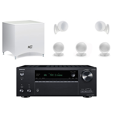 Onkyo TX-NR696 Noir + Cabasse Alcyone 2 Pack 5.1 Blanc