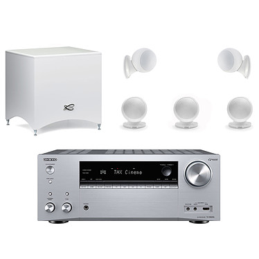 Onkyo TX-NR696 Argent + Cabasse Alcyone 2 Pack 5.1 Blanc