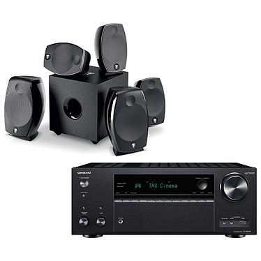 Onkyo TX-NR696 Noir + Focal Sib Evo 5.1.2 Dolby Atmos Ampli-tuner Home Cinéma 7.2 - 165 Watts - THX - Dolby Atmos/DTS:X - Virtualisation Surround - HDMI 4K/60p HDR HDCP 2.2 - Wi-Fi AC/Bluetooth 4.2 - Multiroom - AirPlay 2 - Chromecast + Pack d'enceintes 5.1.2
