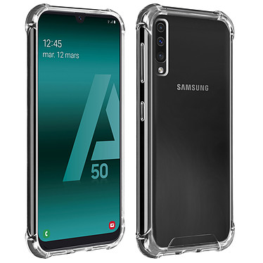 Akashi Coque TPU Angles Renforcés Samsung Galaxy A50 Coque de protection transparente avec angles renforcés pour Samsung Galaxy A50