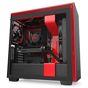 NZXT H710i Noir/Rouge Boîtier moyen tour avec fenêtre latérale en verre trempé et rétroéclairage RGB