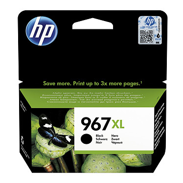 HP 967XL Noir (3JA31AE) Cartouche d'encre noire haute capacité - 3000 pages