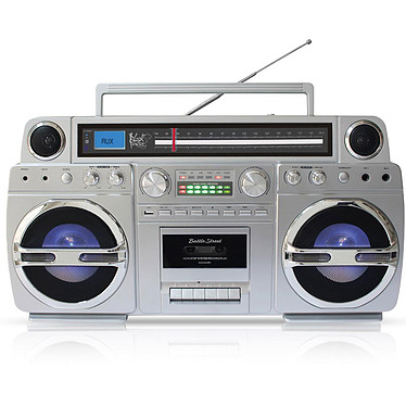Black Panther City Battle Street Ghetto-Blaster portable Bluetooth, lecteur CD, cassette, USB, Tuner FM, réveil, encodage MP3