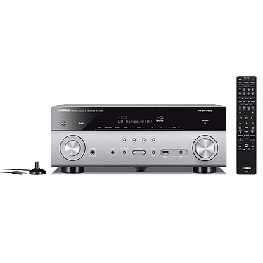 Yamaha MusicCast RX-A780 Titane Ampli-tuner Home Cinéma 7.2 3D 95W/canal - Dolby Atmos/DTS:X - 5x HDMI HDCP 2.2 Ultra HD 4K - Wi-Fi/Bluetooth/AirPlay - MusicCast/MusicCast Surround - A.R.T. Wedge - Calibration YPAO RSC