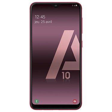 "Samsung Galaxy A10 Rouge Smartphone 4G-LTE Dual SIM - Exynos 7884 8-Core 1.6 GHz - RAM 2 Go - Ecran tactile 6.2"" 720 x 1520 - 32 Go - NFC/Bluetooth 5.0 - 3400 mAh - Android 9.0"