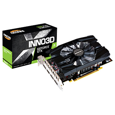 INNO3D GeForce GTX 1660 COMPACT X1 6 GB GDDR5 - HDMI/DisplayPort - PCI Express (NVIDIA GeForce GTX 1660)
