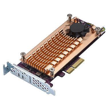 QNAP QM2-2P-244A Doble tarjeta de expansión SSD M.2 PCIe NVMe tipo 22110/2280 doble tarjeta de expansión SSD