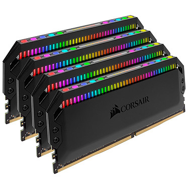 Avis Corsair Dominator Platinum RGB 64 Go (4x 16 Go) DDR4 3466 MHz CL16
