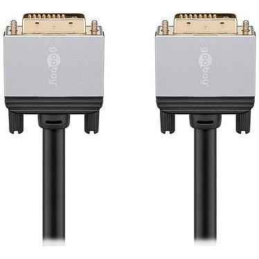 Goobay Plus Câble DVI-D 4K (3 m) Câble DVI-D Dual Link (Mâle/Mâle) - 3 mètres