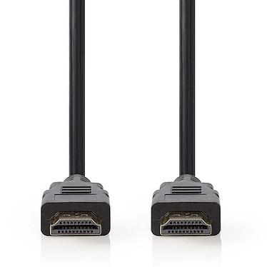 Nedis Câble HDMI 2.1 Noir (2m) Câble HDMI Ultra Haute Vitesse - 8K - Noir - 2 mètres