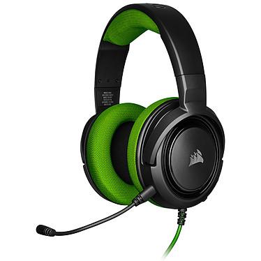 Corsair HS35 (Vert) Micro-casque stéréo circum-aural pour gamer - Microphone amovible - Certification Discord - Mousse mémoire de forme - PC/PS4/XboxOne/Switch