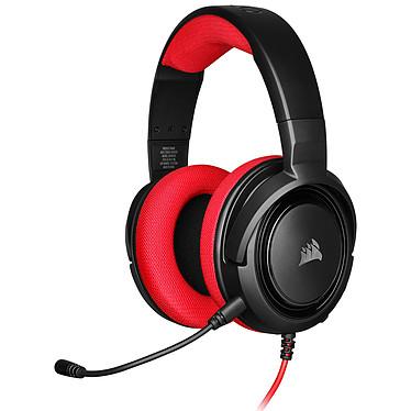 Corsair HS35 (Rouge) Micro-casque stéréo circum-aural pour gamer - Microphone amovible - Certification Discord - Mousse mémoire de forme - PC/PS4/XboxOne/Switch