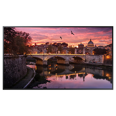 "Samsung 75"" LED QB75R Ecran 75"" Ultra HD 3840 x 2160 pixels - 16:9 - 350 cd/m² - 4000:1 - 8 ms - HDMI/DVI - USB - Wi-Fi - Bluetooth - 16/7 - Noir"