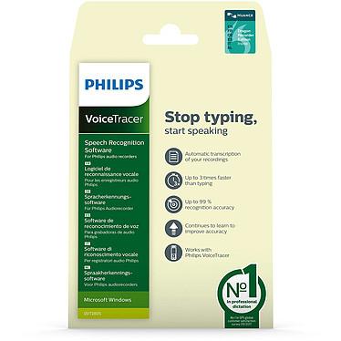 Philips VoiceTracer DVT2805 Logiciel de reconnaissance vocale (Windows) pour enregistreurs audio Philips